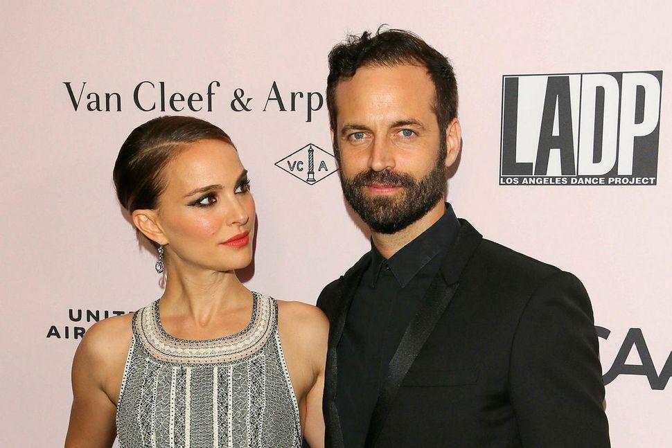 Hjónin Natalie Portman og Benjamin Millepied.