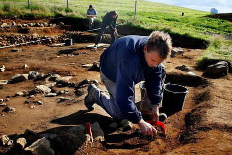 The excavation at Hrísbrú in Mosfellsdalur.