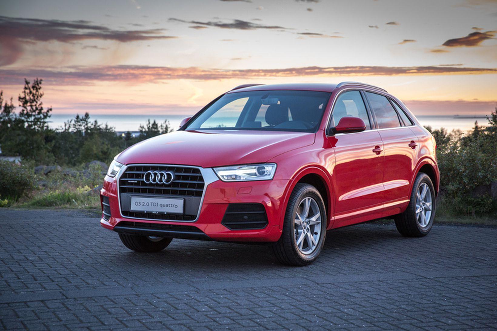 Audi Q3, BMW X2 og VW Tiguan urðu jafnir og …