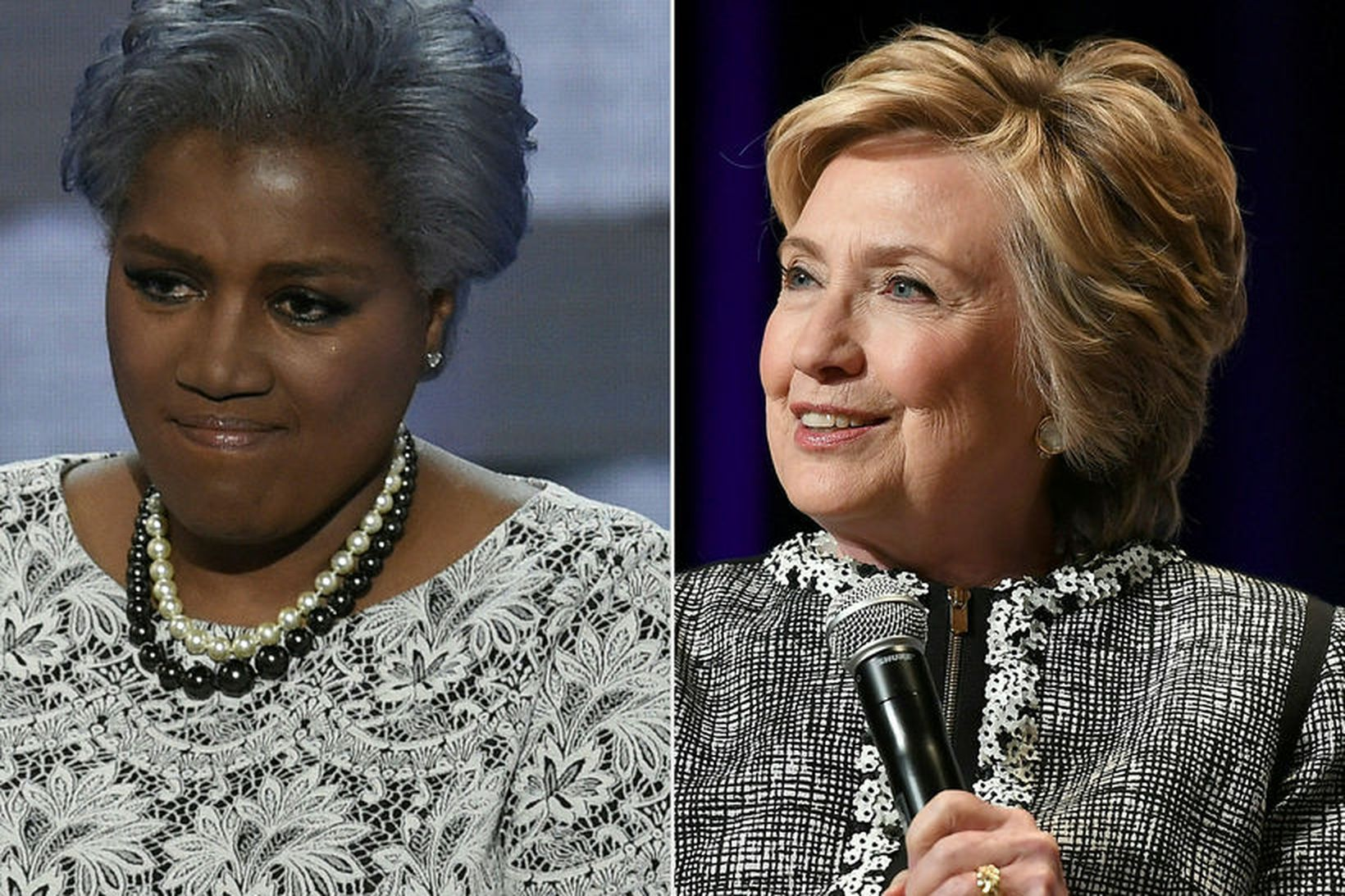 Donna Brazile (t.v.) segir í bók sinni að Clinton hafi …