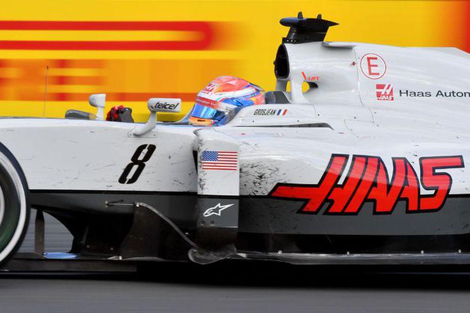 Romain Grosjean á ferð á Haas-bílnum í kappakstrinum í Albertsgarði í Melbourne.