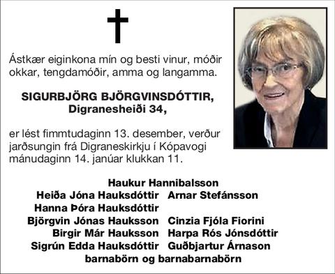 Sigurbjörg Björgvinsdóttir,