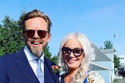 Elías Guðmundsson og Sólveig Eiríksdóttir gengu í hjónaband í gær.