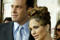 Ben Affleck og Jennifer Lopez eru ánægð saman.