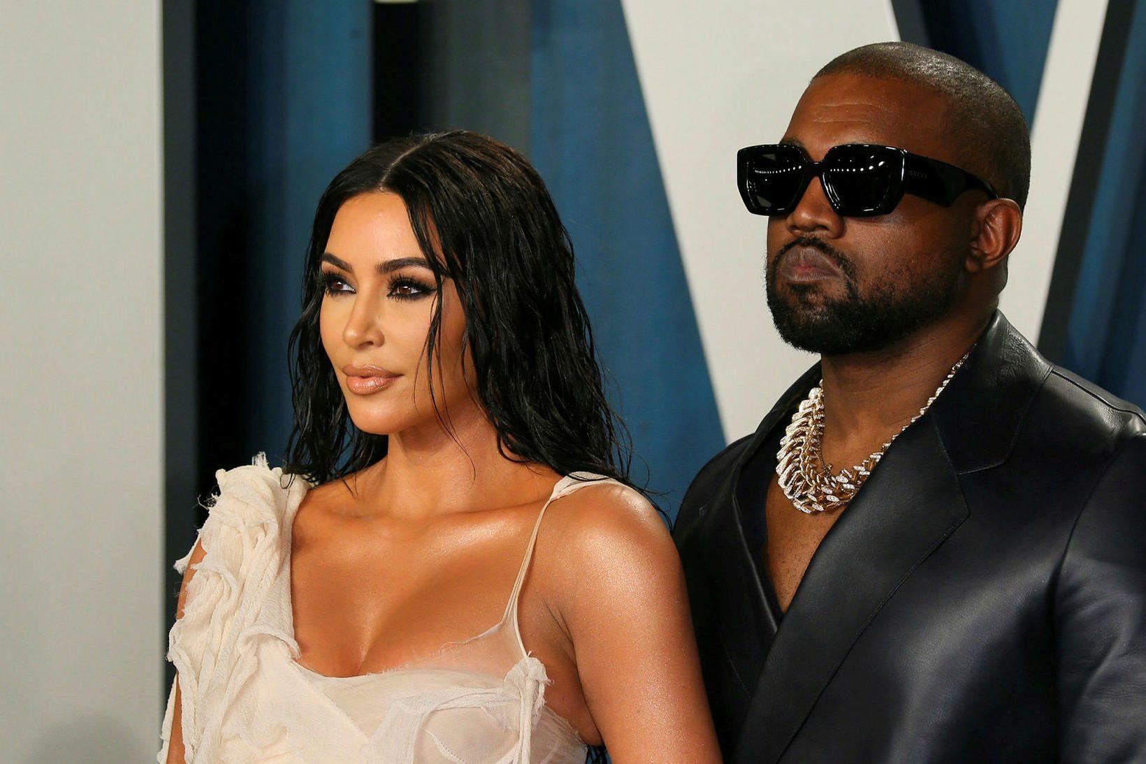 Hjónin Kim Kardashian og Kanye West eru sögð rífast mikið …