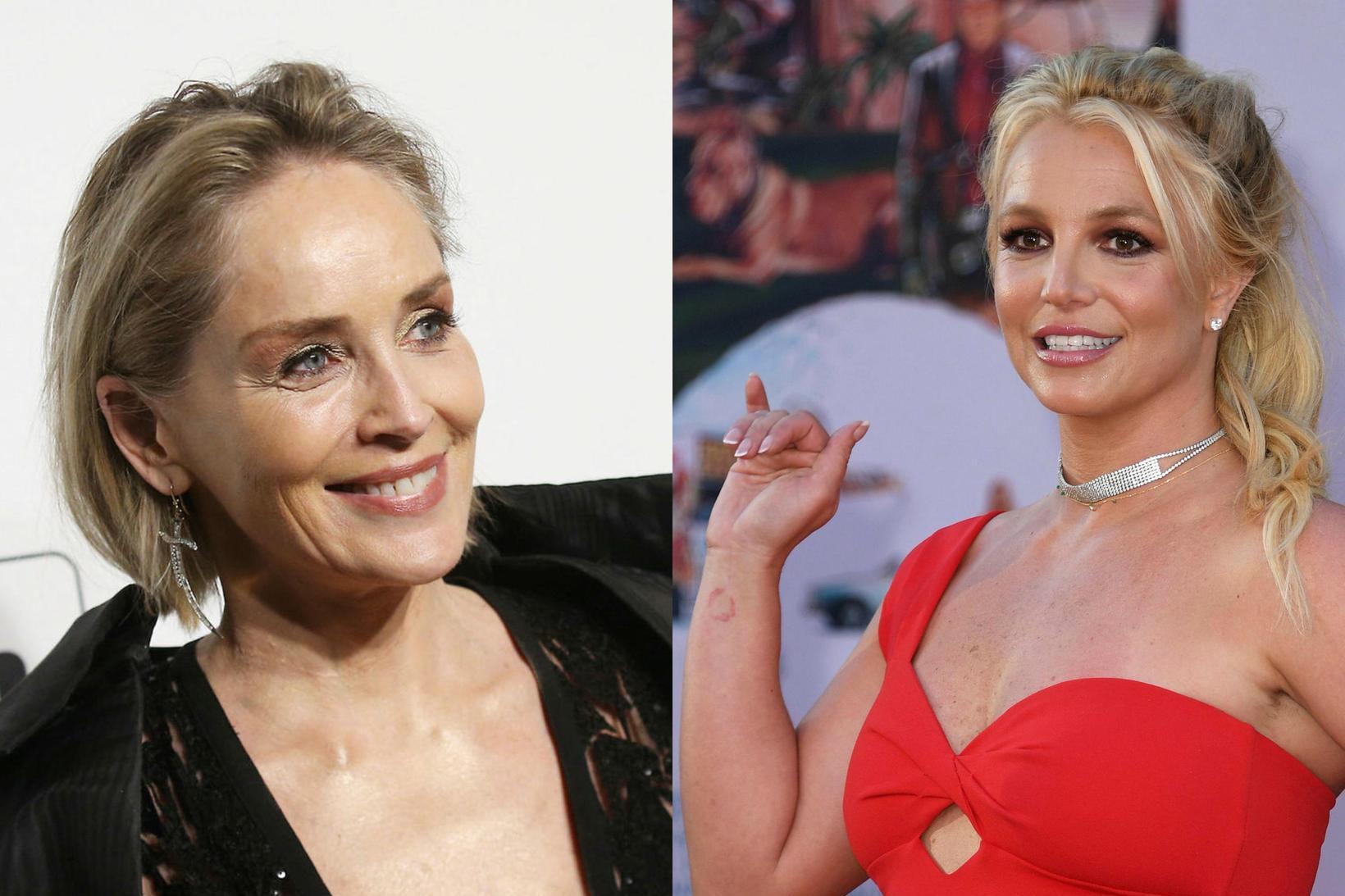 Sharon Stone segir að Britney Spears hafi beðið hana um …