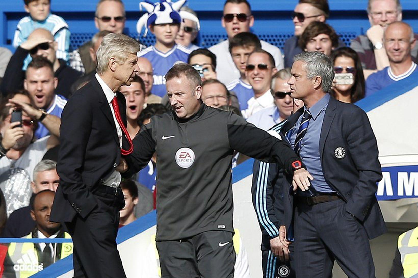 Stundum þurfti að skilja Arsene Wenger og José Mourinho að …