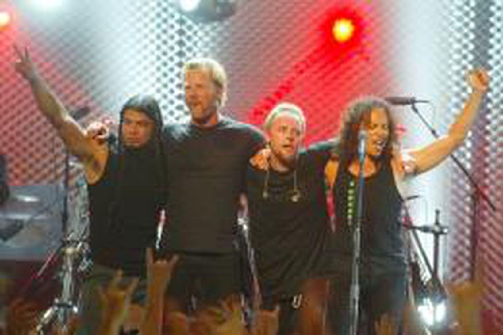 Hljómsveitin Metallica.