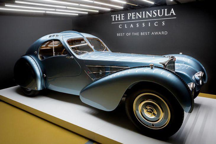 Einstök bifreið, fögur og hrífandi, Bugatti 57SC Atlantic.