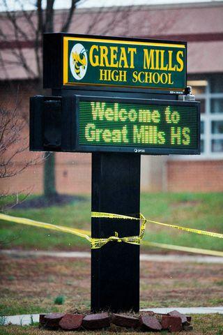 Árásin var gerð í Great Mills-framhladskólanum í Maryland þann 20. ...