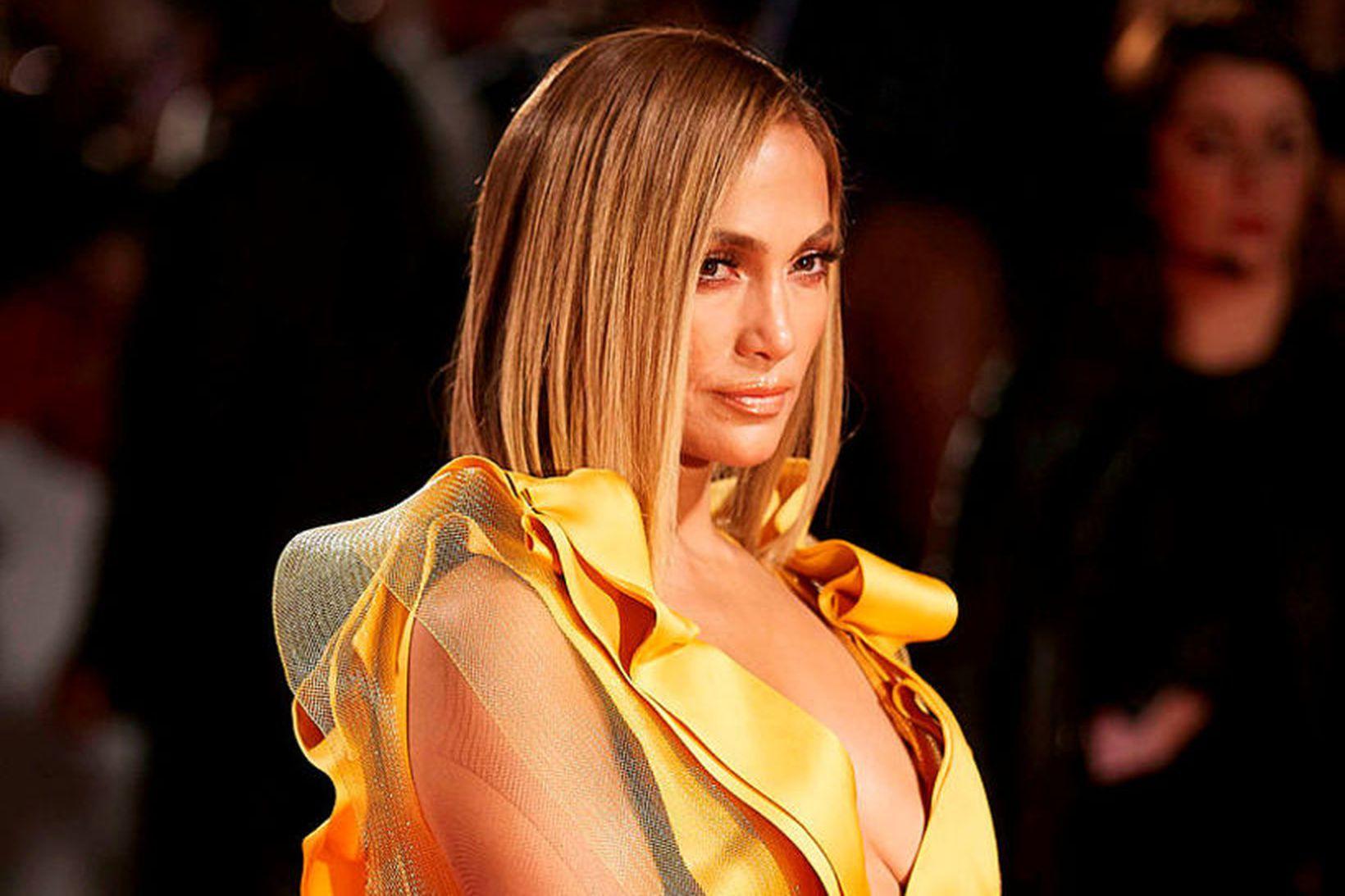 Jennifer Lopez á frumsýningu Hustlers.