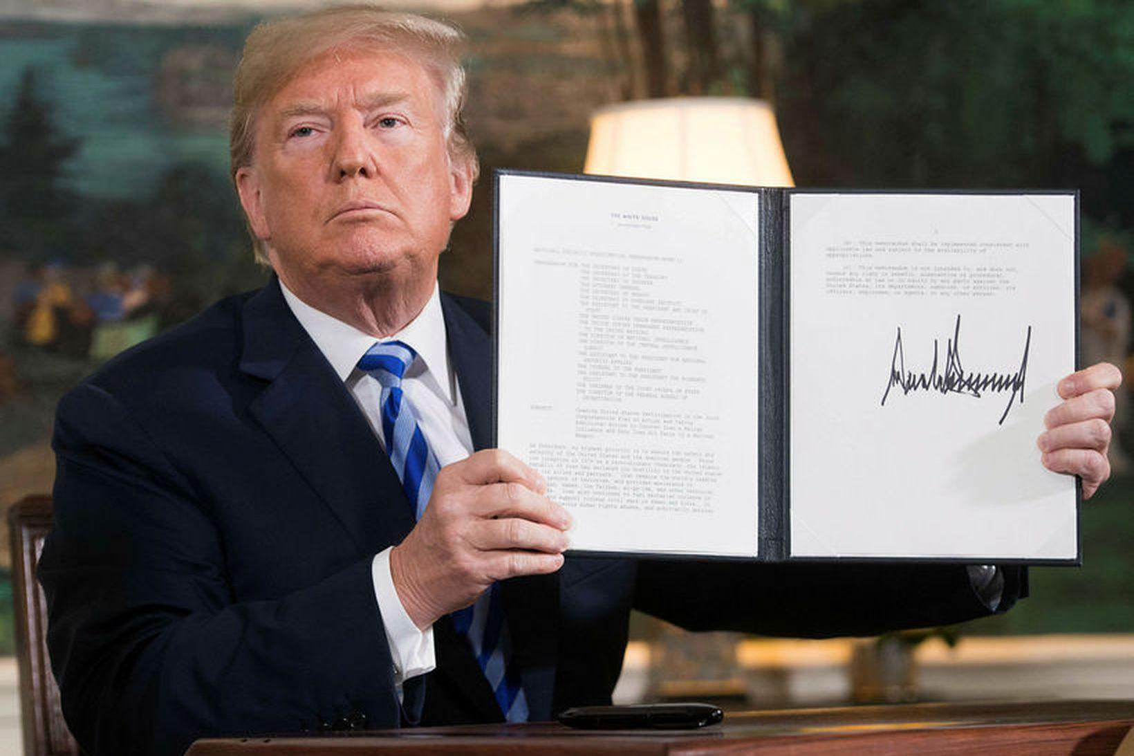 Donald Trump, forseti Bandaríkjanna, ákvað á þriðjudag að draga Bandaríkin …