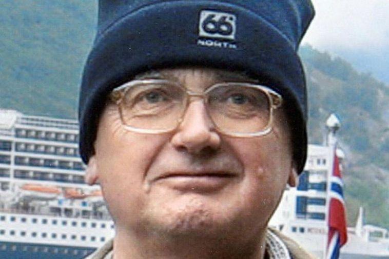 Godfrey Hall wearing his beloved 66°North hat.
