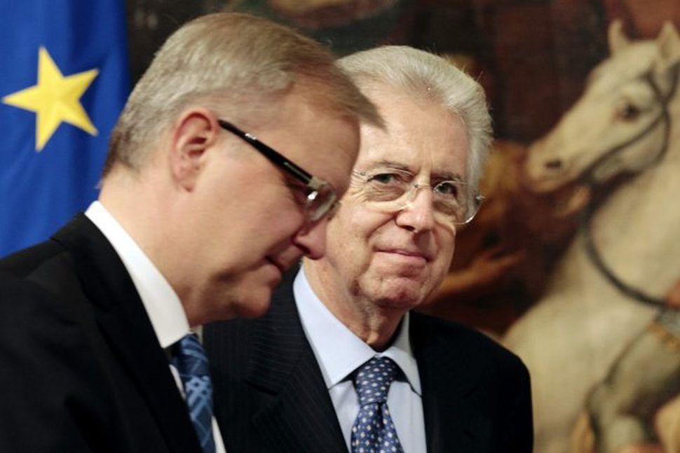 Olli Rehn og Mario Monti.