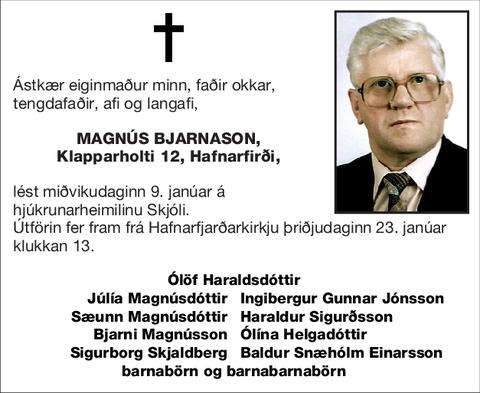 Magnús Bjarnason,