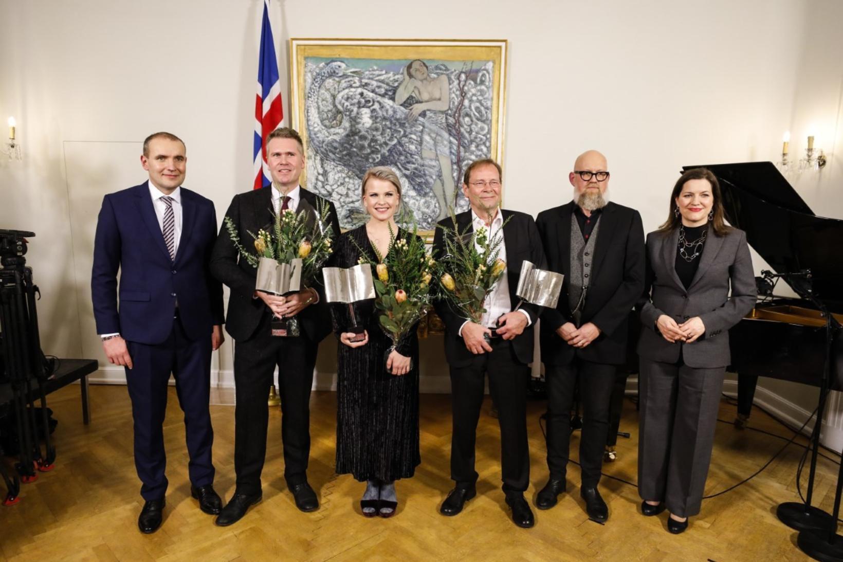 Guðni Th. Jóhannesson, Eliza Reid forsetafrú og Heiðar Ingi Svansson, …