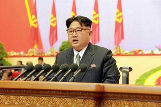 Kim Jong-Un leiðtogi Norður-Kóreu og nú formaður Verkamannaflokksins.