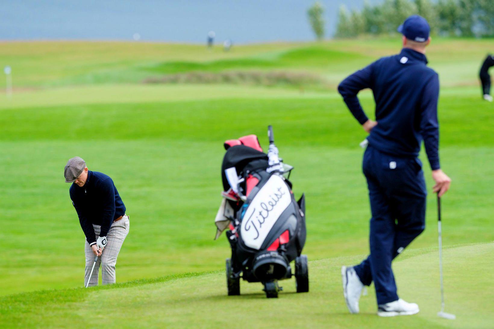 Frá Íslandsmótinu í golfi í Mosfellsbæ í fyrra.