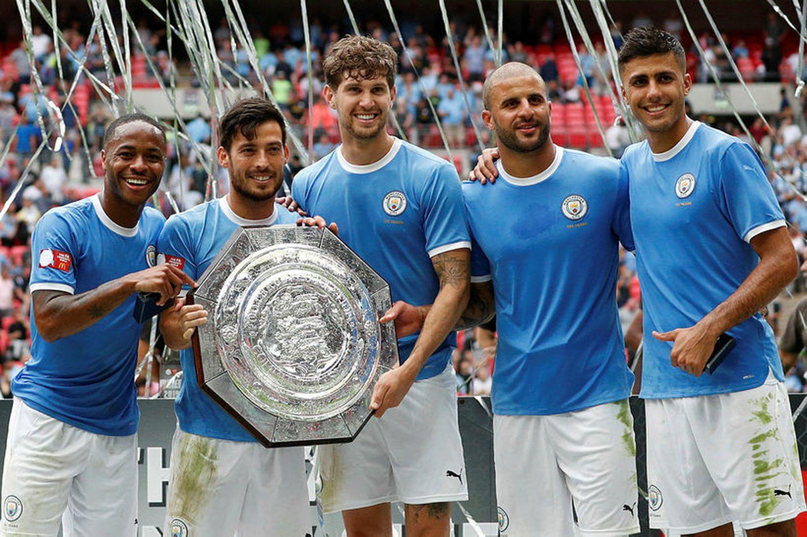 Manchester City vann Samfélagsskjöldinn í fyrra.