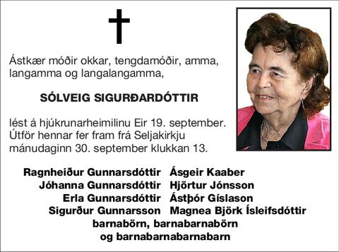 Sólveig Sigurðardóttir