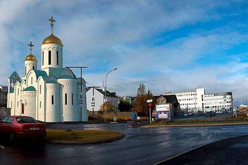 Kirkja rússnesku rétttrúnaðarkirkjunnar.