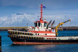 Dráttarbáturinn Magni í Reykjavíkurhöfn.