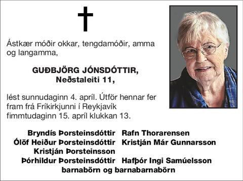 Guðbjörg Jónsdóttir,