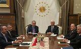 Recep Tayyip Erdogan, forseti Tyrklands og Mike Pence, varaforseti Bandaríkjanna funduðu fyrr í dag.