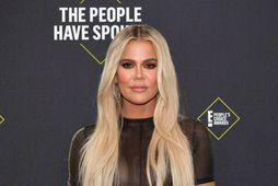 Khloé Kardashian er búin að léttast um 27 kíló síðan hún átti dóttur sína.
