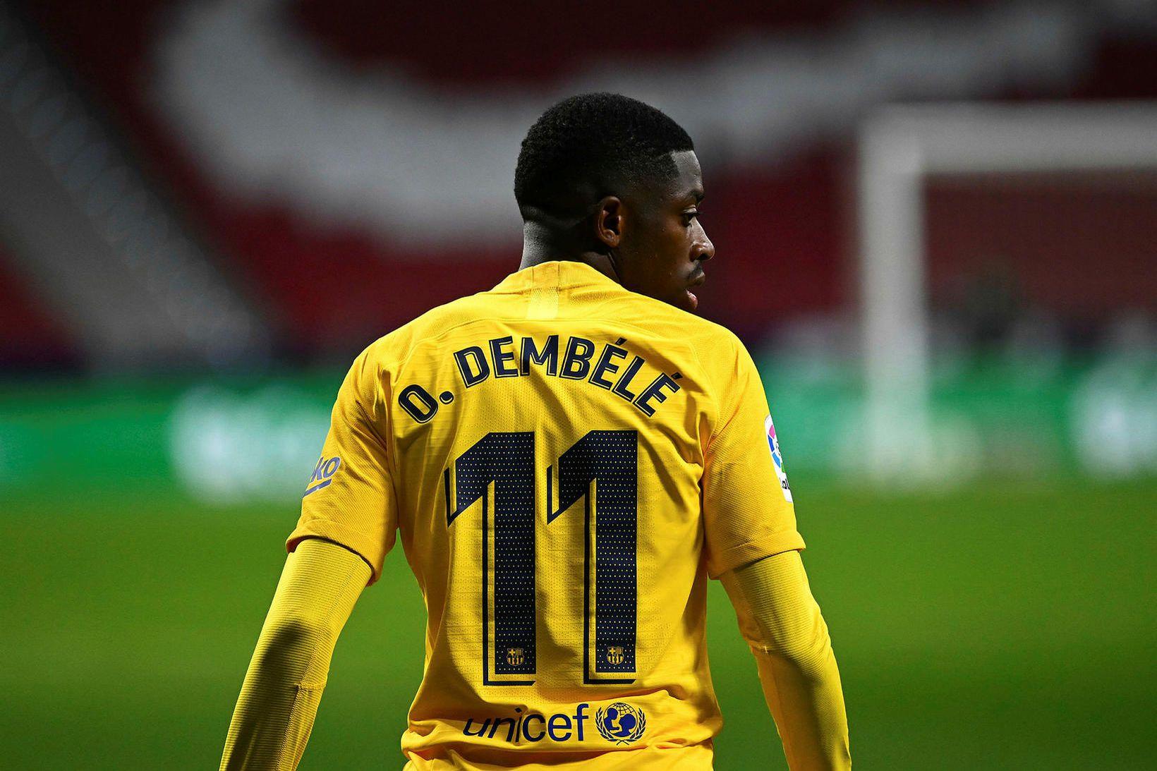 Ousmane Dembélé er á óskalista Manchester United.