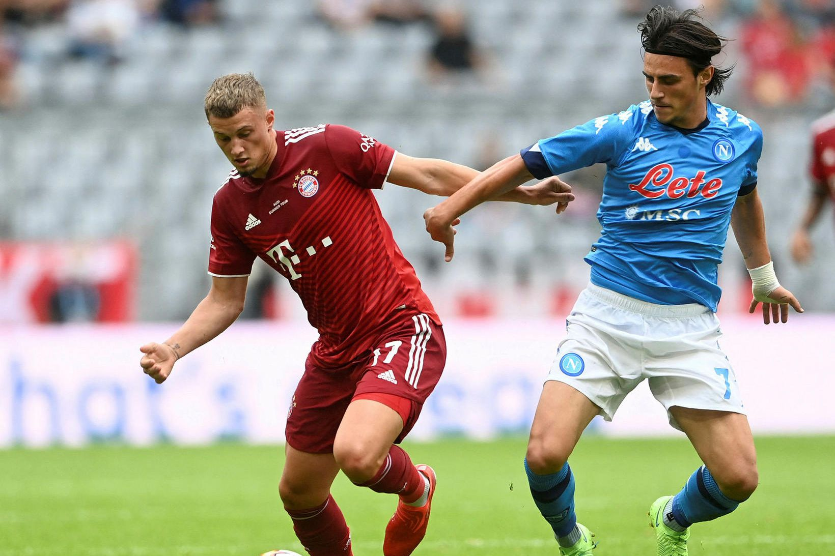 Bayern München fékk skell gegn Napólí.