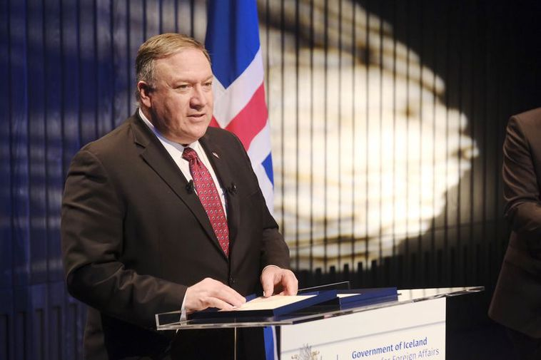 Michael R. Pompeo, US secretary of state at Harpa today.
