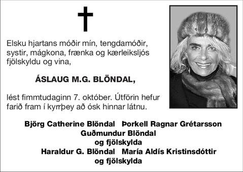 Áslaug M.G. Blöndal,