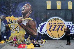 Kobe Bryant er minnst í Los Angeles.