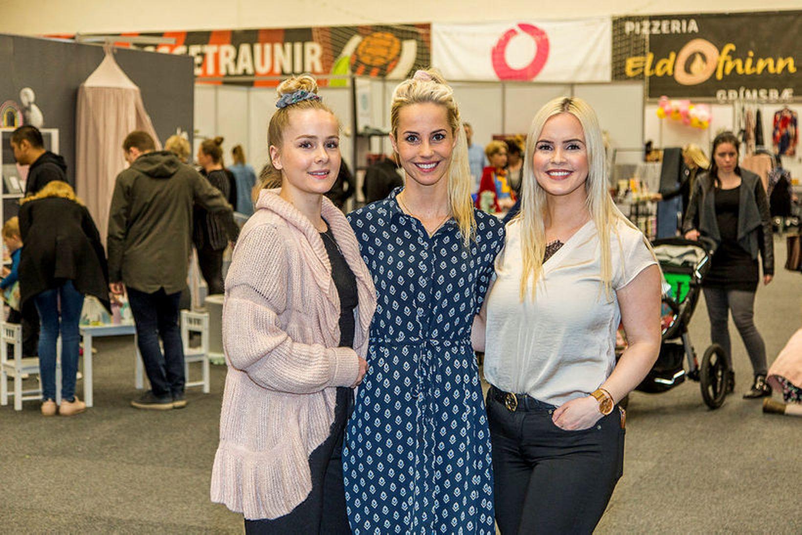 Sara Björk Purkhús, Eyrún Anna Tryggvadóttir og Olga Helena Ólafsdóttir …