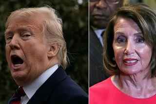 Donald Trump Bandaríkjaforseti segir Nancy Pelosi, forseta fulltrúardeildar Bandaríkjaþings, hafa hagað sér óskynsamlega en hún ...