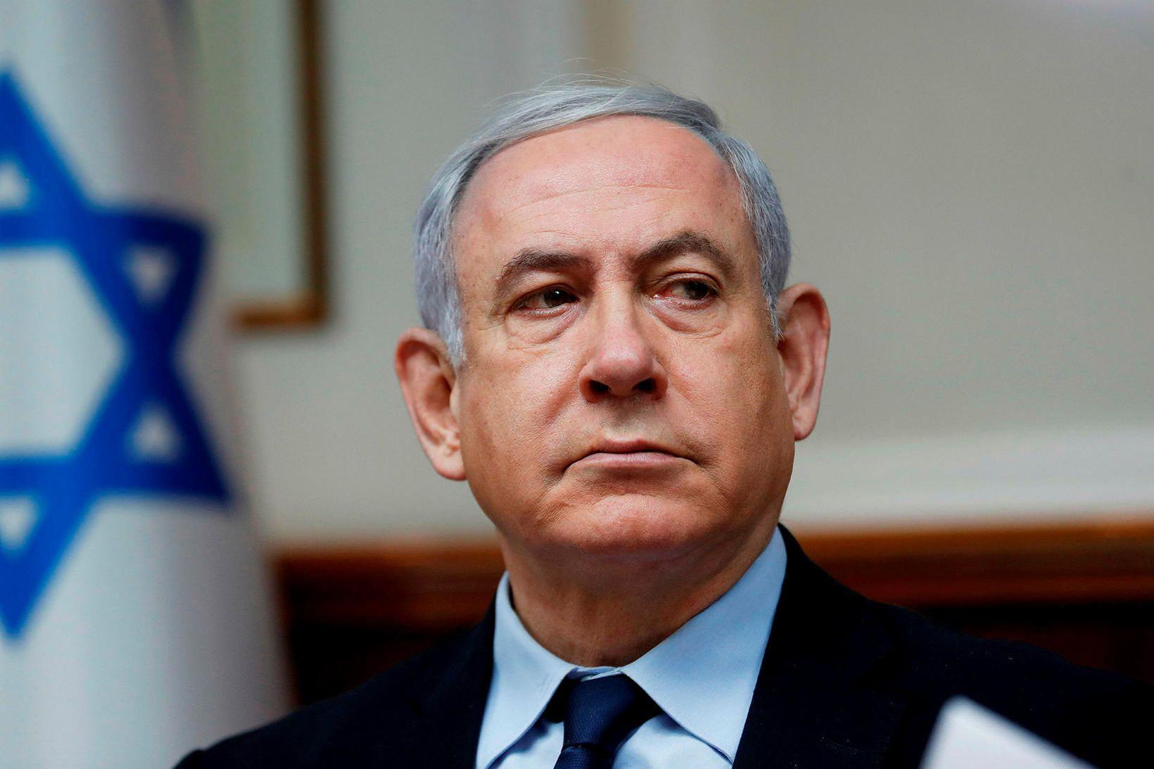 Benjamin Netanyahu, fyrrverandi forsætisráðherra Ísraels.