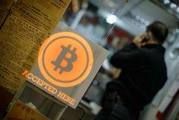 Bitcoin er rafræn mynt.