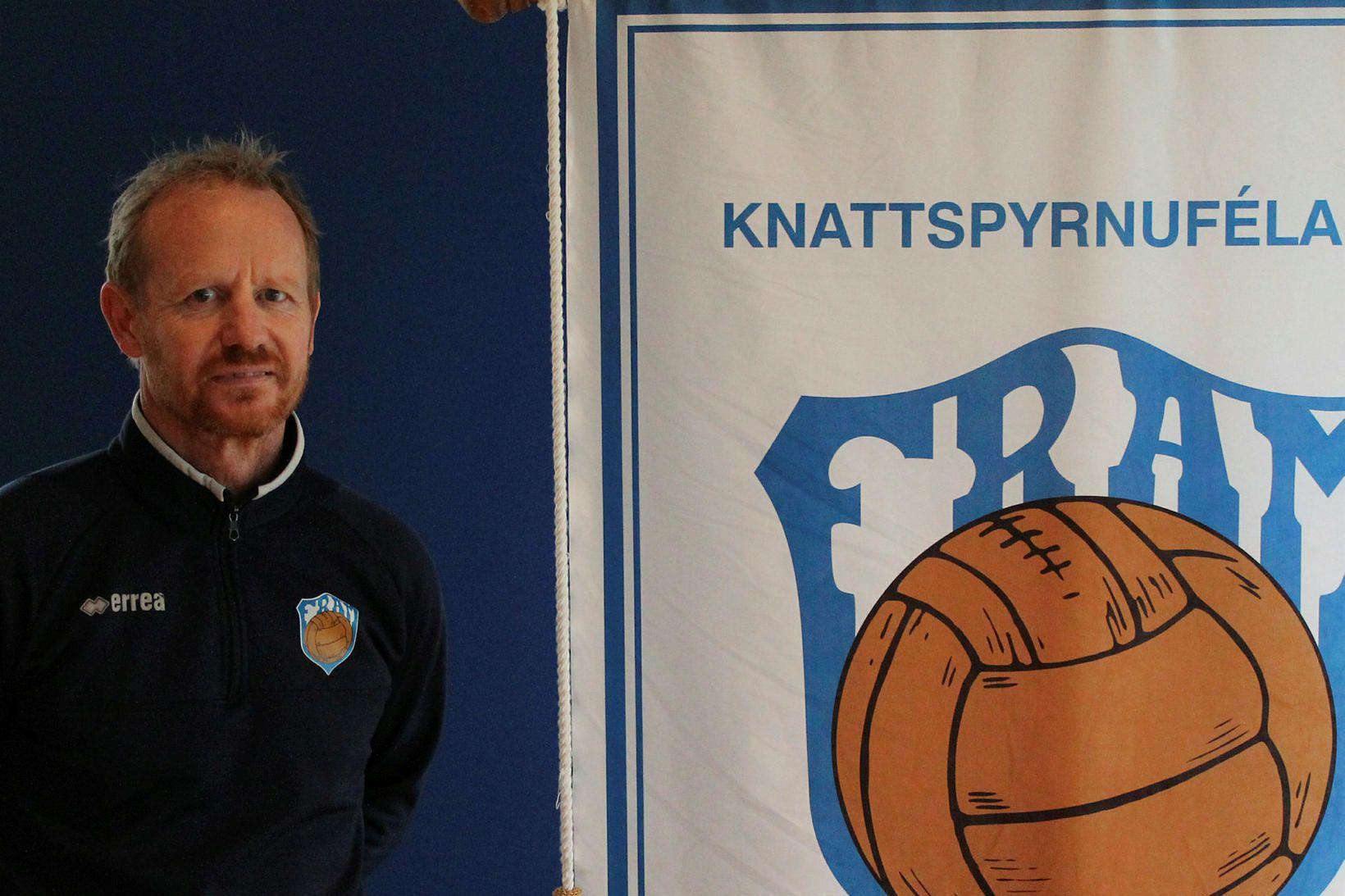 Jón Sveinsson, þjálfari Fram.