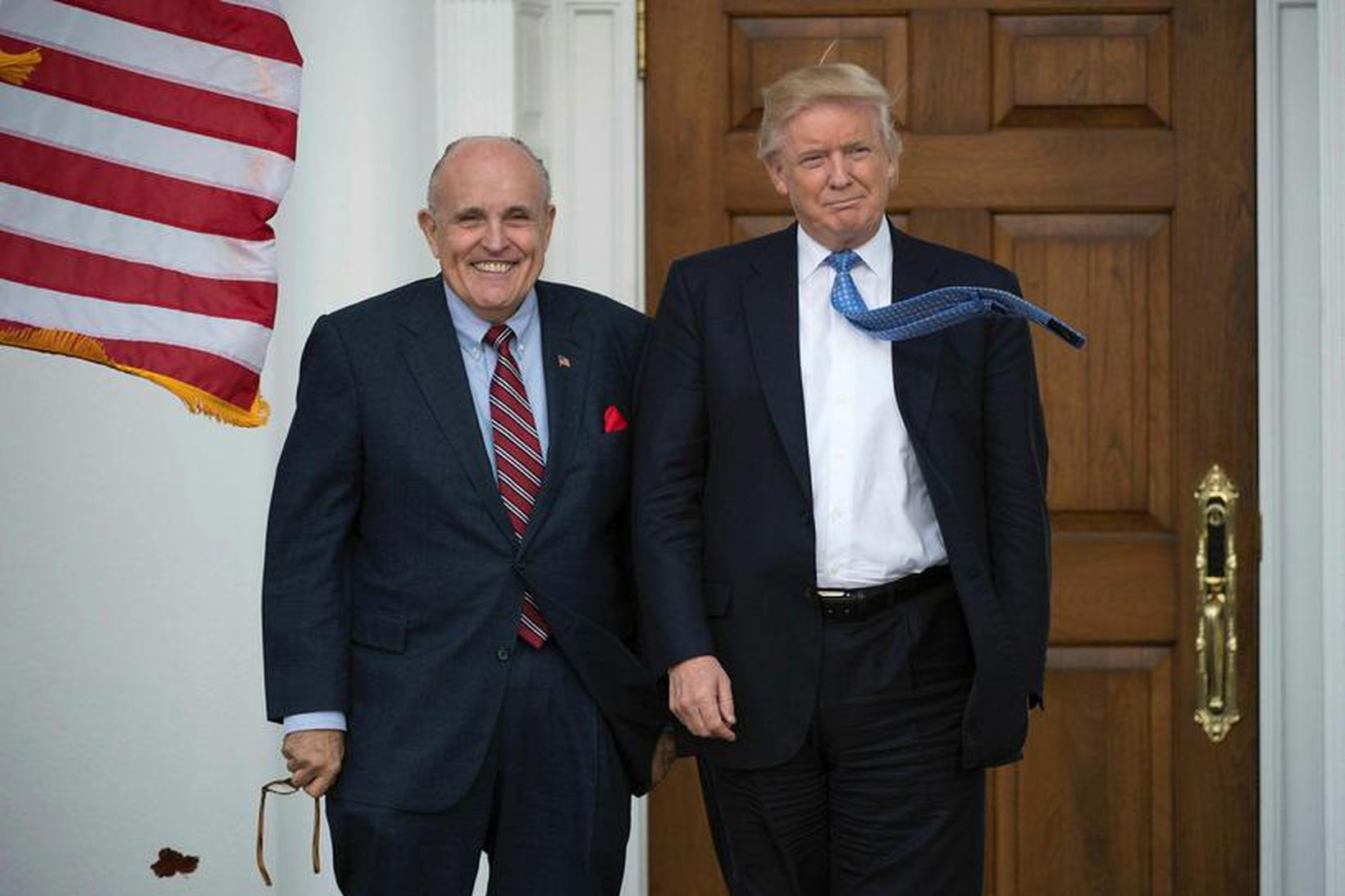 Giuliani og Trump á góðri stundu.